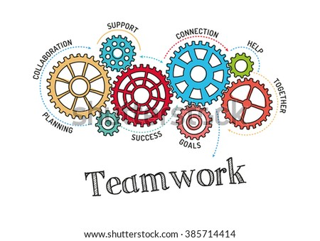 Gears and Teamwork Mechanism