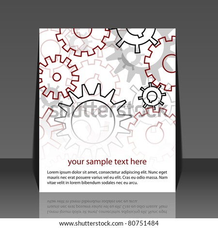 Gears background - flyer design
