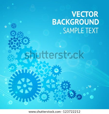 Gears background for your sample text. Vector illustration.