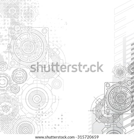 gears background under