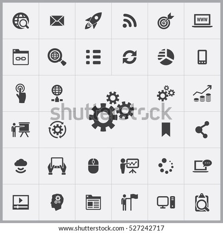 gears icon. digital marketing icons universal set for web and mobile