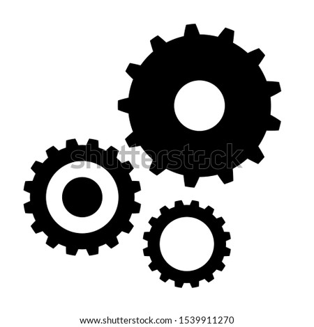Gears Icon, Gears Symbol Vector