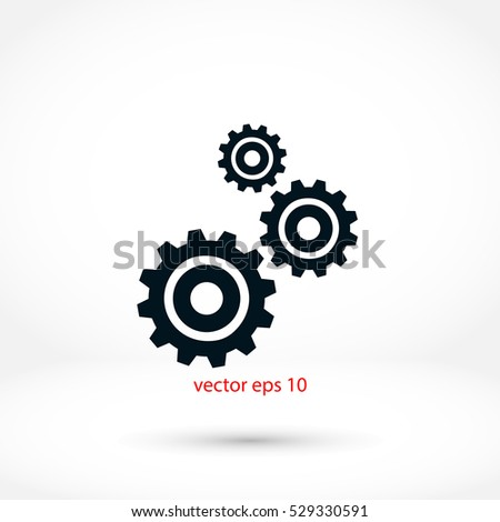 gears icon vector, Vector EPS 10 illustration style