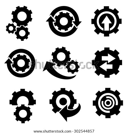 Gears icons vector.