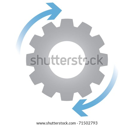 Gears in motion, business process concept