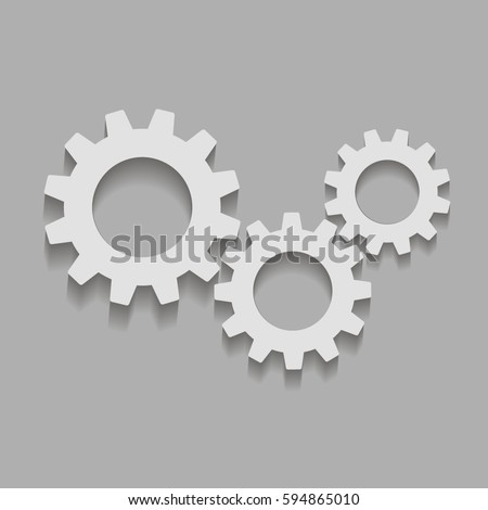 gears on a gray background