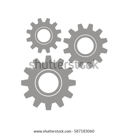 Gears on a white background. Vector illustration.