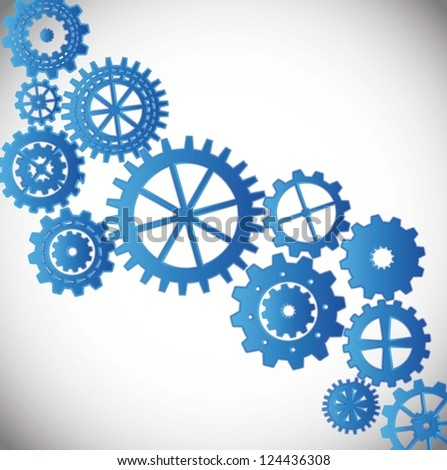 gears silhouette over gray background. vector illustration