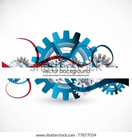 gears vector background