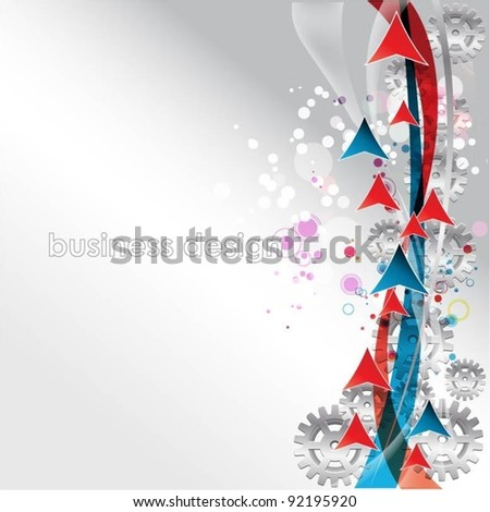 gears vector background with arrows