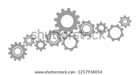 gearwheels cogs icon teamwork concept vector illustration EPS10