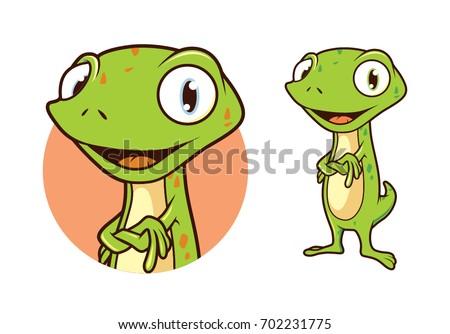 gecko character cartoon vector