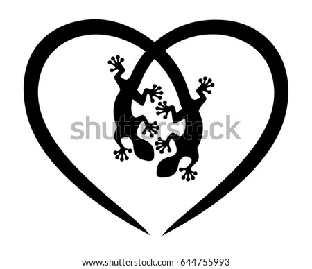 gecko  lizard  heart