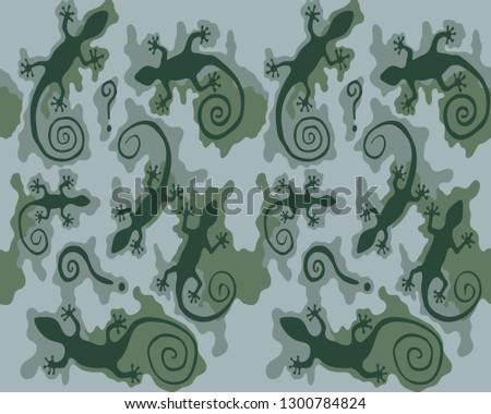 gecko vector background