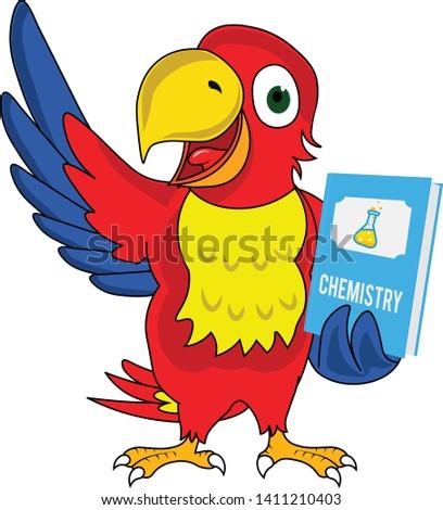geek cartoon character parrot