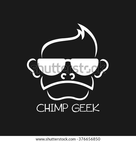 geek chimp logo vector