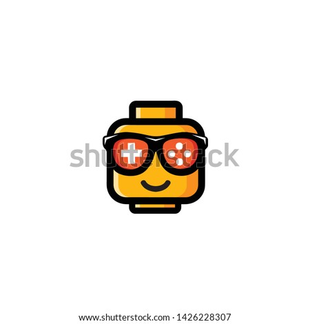 GEEK, GAMER TOY ORANGE DESIGN VECTOR
