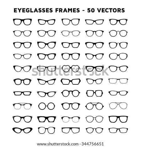 Geek Glasses Vector Icons Set