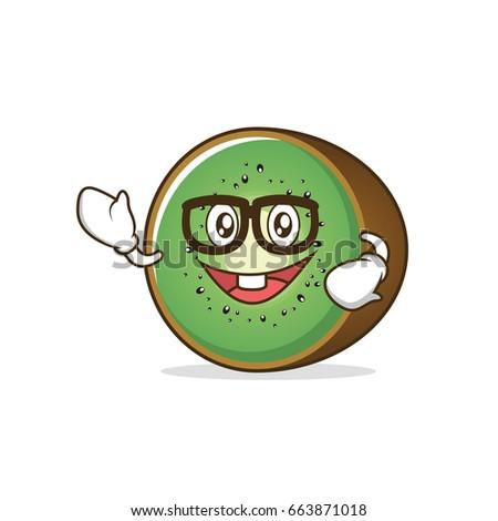 geek kiwi fruit character