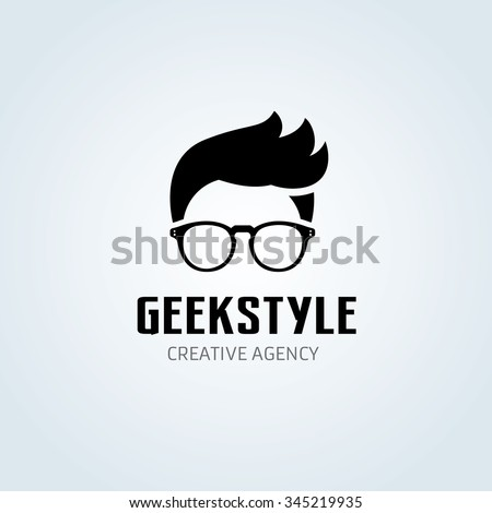 Geek Logo,Vector Logo template Сток-фото ©