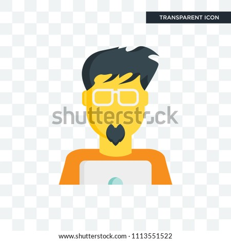Geek vector icon isolated on transparent background, Geek logo concept