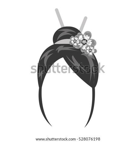 geisha wig hair style icon