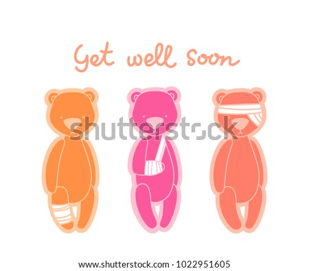 gel well soon card teddy bears