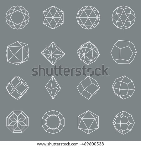 gem crystal geometric shapes