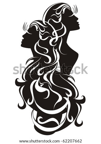 Gemini tattoo. Astrology sign. Vector zodiac - stock vector