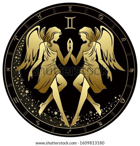 gemini zodiac sign two angels