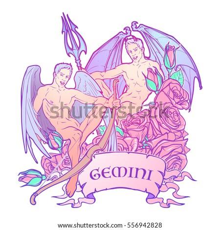 gemini zodiac sign with a