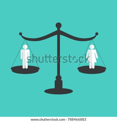 Gender equality concept. Vector illustration