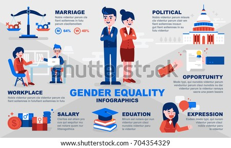 Gender equality infographic template