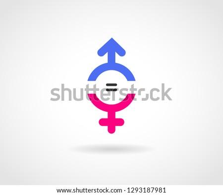 Gender Equality Logo concept.