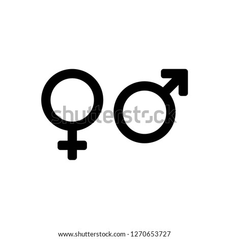 gender icon vector, on white background editable eps10