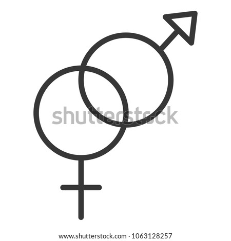 gender male and female crossed