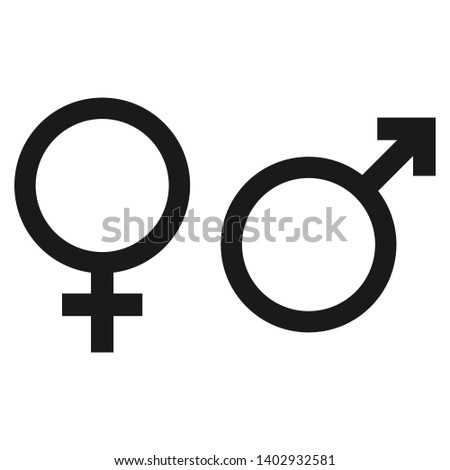 Gender Male and Female vector Icon in trendy flat style isolated