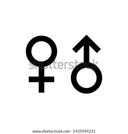 Gender male female symbol vector icon illustration