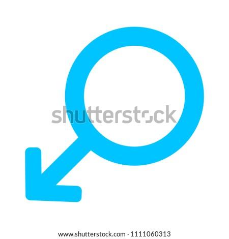 Gender male sex sign symbol, vector sex illustration