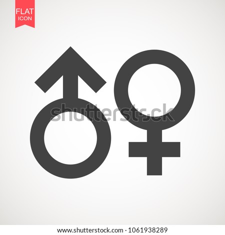 Gender sign icon. Male and female sign vector. Vector illustration on isolated background. Business concept men and women pictogram .