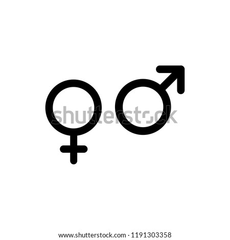 gender simple icon