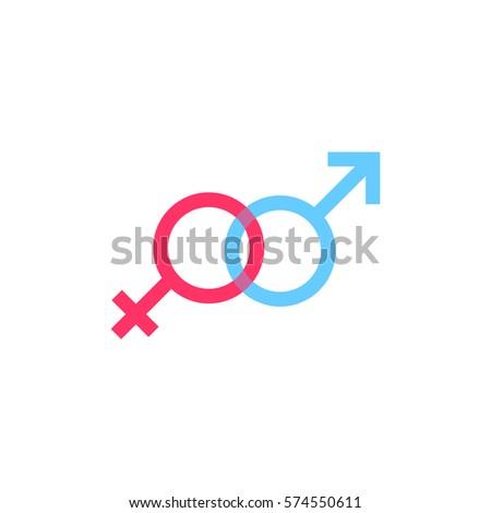 Gender symbol, icon design template, vector illustration