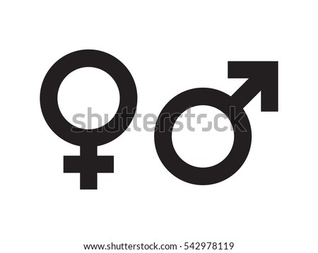 Gender symbol vector - Shutterstock ID 542978119