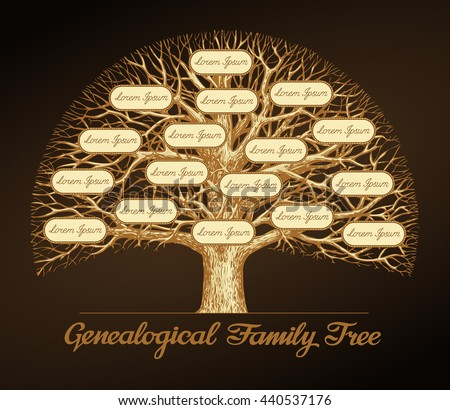 genealogical family tree on a