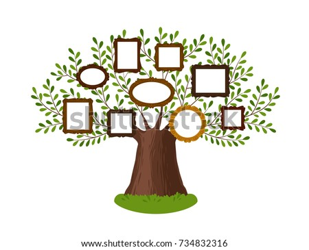 genealogical family tree with