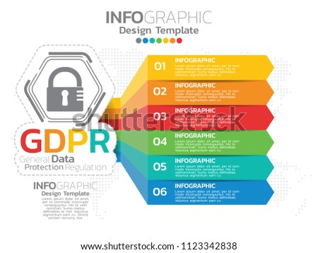 General Data Protection Regulation. GDPR concept infographic template.