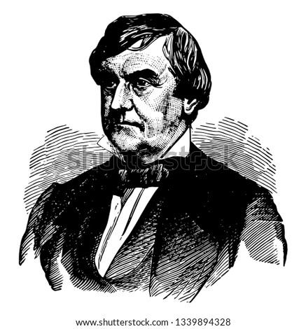 General Joseph Holt 1807 to 1894 he was a leading member of the Buchanan administration and judge advocate general of the United States army vintage line drawing or engraving illustration