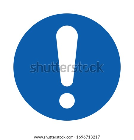 General mandatory action sign. M001.  Standard ISO 7010. Safety and precaution signs, for every factory and business. Stock photo ©