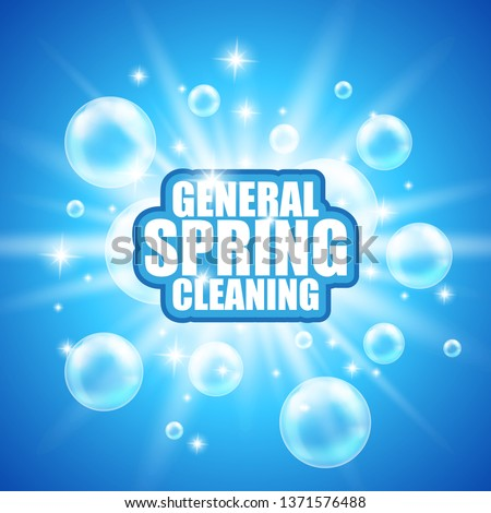General spring cleaning. Soap design product. Vector soap wash background; package design. Toilet or bathroom tub cleanser. Washing machine soap powder vector packaging template. Antibacterial soap