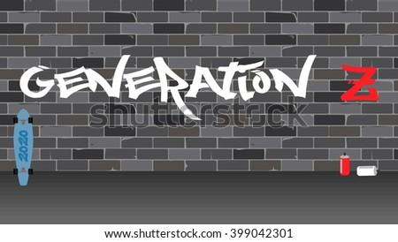 generation z illustration